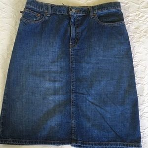 RALPH LAUREN JEANS Blue Jean Skirt Womans Size 8